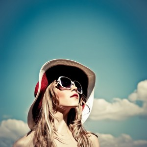 hip sunglass girl