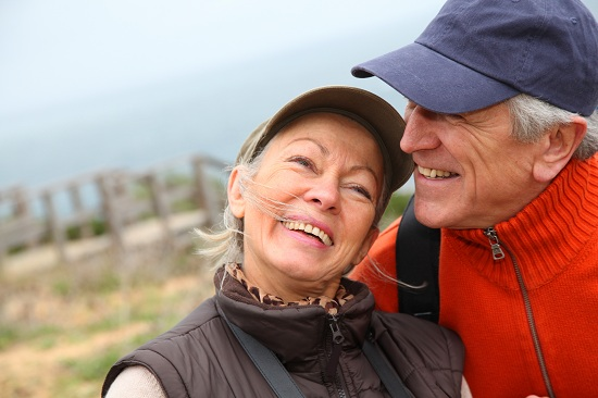 older couple- hiking