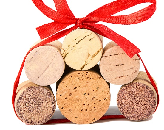 wine corks in bow