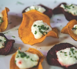 beet and sweet potato bites