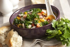 soup and kale