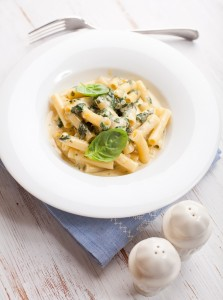 penne with spinach