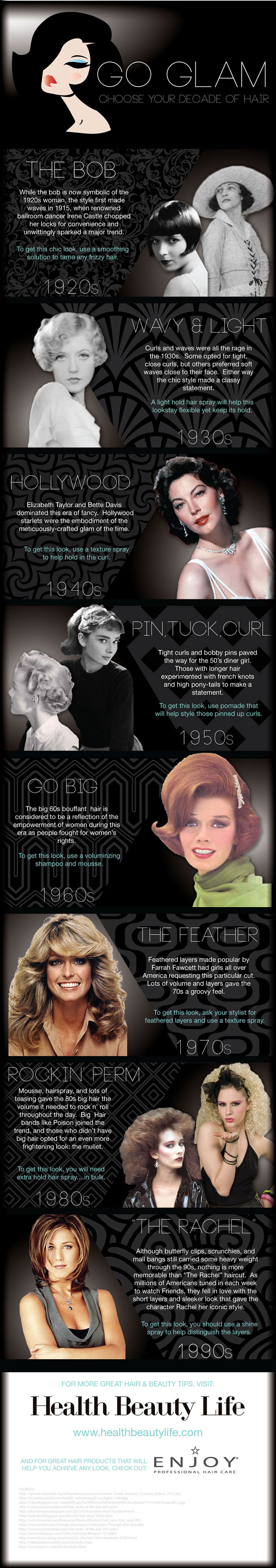 Go Glam: Choose Your Decade of Hair