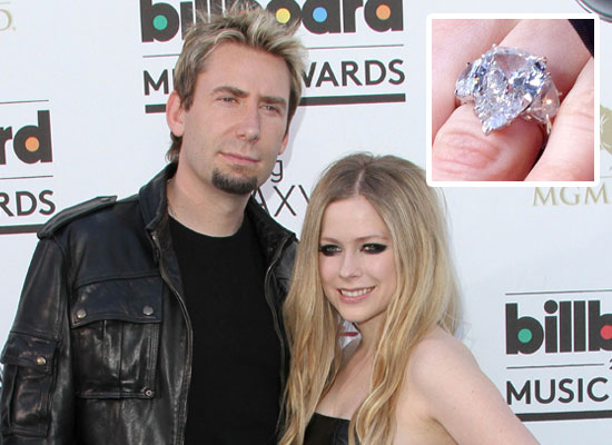 Avril Lavigne Wedding Ring Chad Kroeger