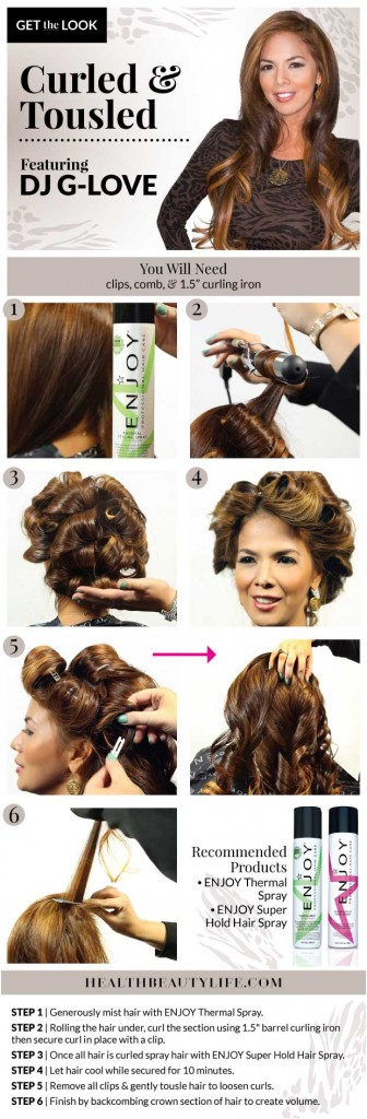 Get the Look: Curled and Tousled Hair w/ DJ G-Love