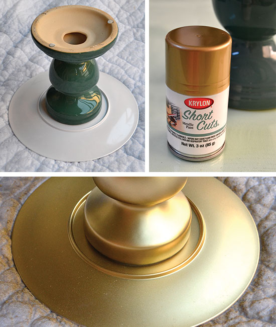 A diy cake stand that looks expensive but really cost 7 for Plate cake stand diy