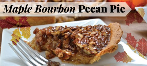 Maple Bourbon Pecan Pie with Whole Wheat Crust