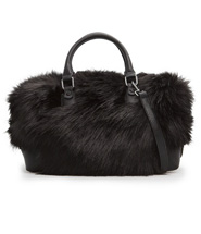 Mango Faux Fur Tote Bag