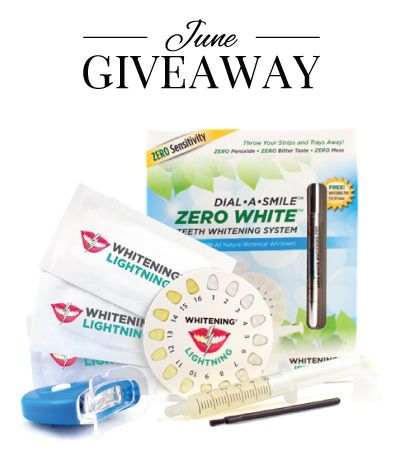 Giveaway Dial A Smile Whitening System
