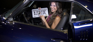 "Best known as ""AJ"" the host from the popular series Overhaulin', Adrienne Janic proudly shows off her own sweet ride."