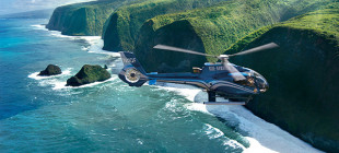 Blue Hawaiian Helicopters on an aerial tour of the islands.