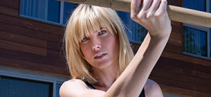 Eugenia Kuzmina stays fit by practicing karate and krav maga, meditative self-defense disciplines for an instinct-sharpening workout.