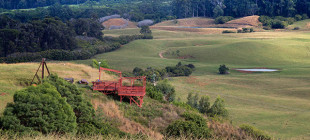 Spectacular views of rolling meadows make this hilltop ranch the perfect setting for Ziplining.