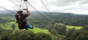 Piiholo Ranch Zipline offers an amazing view of Maui with double and single line.