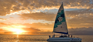 Set sail on a catamaran with Teralani Sailing Adventures.