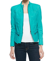 Women's Daughtry Zip-Front Jacket, Forward Teal - T Tahari