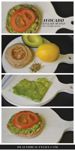 100 calorie avocado english muffin snack. Black Bedroom Furniture Sets. Home Design Ideas