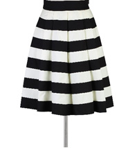 eShakti Women's Contrast colorblock pleated skirt