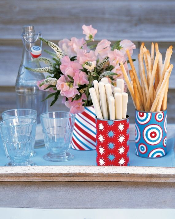 DIY tin vases