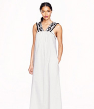 JCrew Embroidered pom-pom maxidress