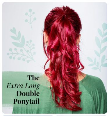 Extra Long Double Ponytail DIY 2