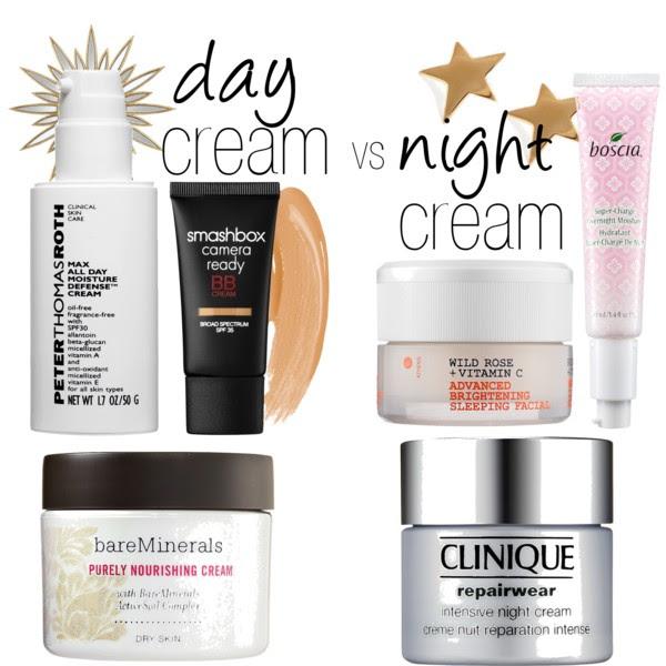 Day Cream VS Night Cream