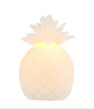 Home Reflections Pineapple Flameless Candle w/ Timer
