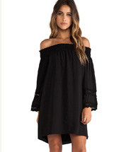 VAVA by Joy Han Harley Off Shoulder Dress in Black