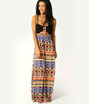 boohoo Naila Tribal Print Maxi Dress - multi