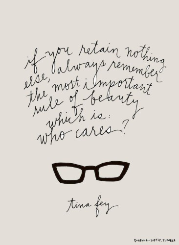 tina fey beauty quote