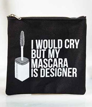 Urban Outfitters Breakups To Makeup Mascara Canvas & Pouch
