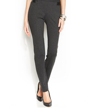 Alfani Pleather-Trim Skinny Pull-On Pants