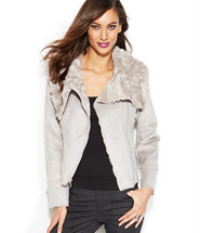 INC International Concepts Faux-Shearling Moto Jacket
