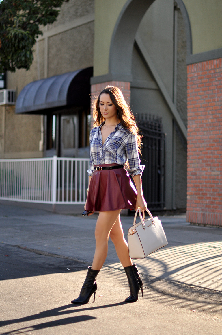 Leather Circle Skirt