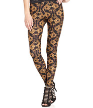 Material Girl Juniors' Baroque-Print Leggings