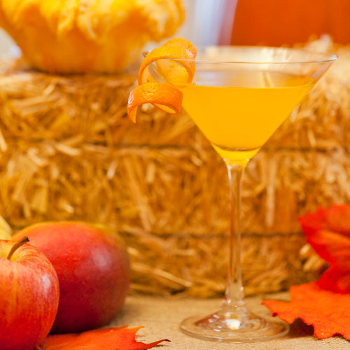 orange pumpkin tini