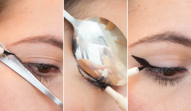 Как сделать стрелки карандашом для глаз пошагово