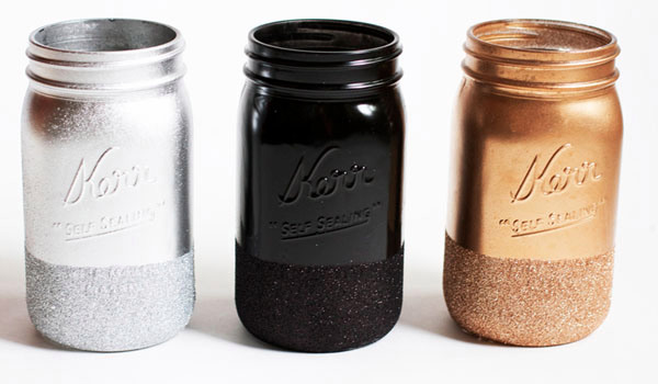 How To Paint Mason Jars With Metallic Paint
