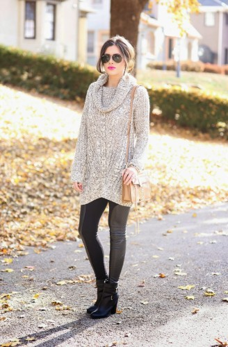 How to Wear an Oversized Sweater Without Looking Frumpy