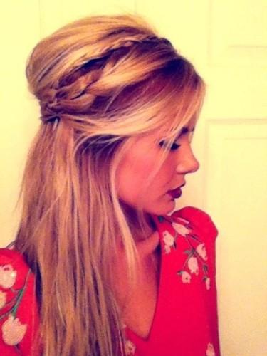 Amber half braid