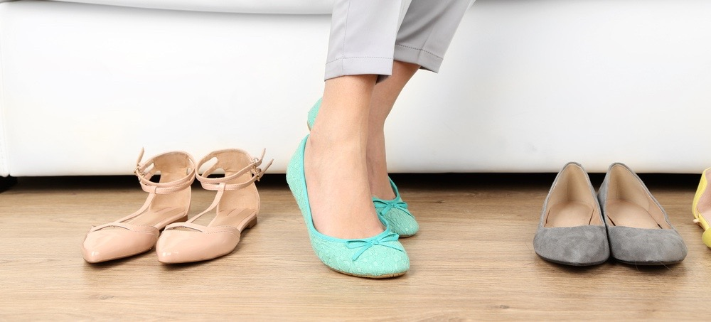 Cute Blue Flat Shoes