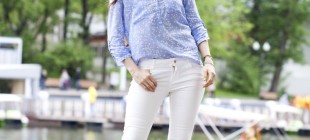How to Style White Jeans to Look Chic