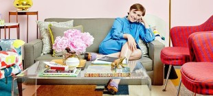 Tour Lena Dunham's Vibrant Girls Dressing Room