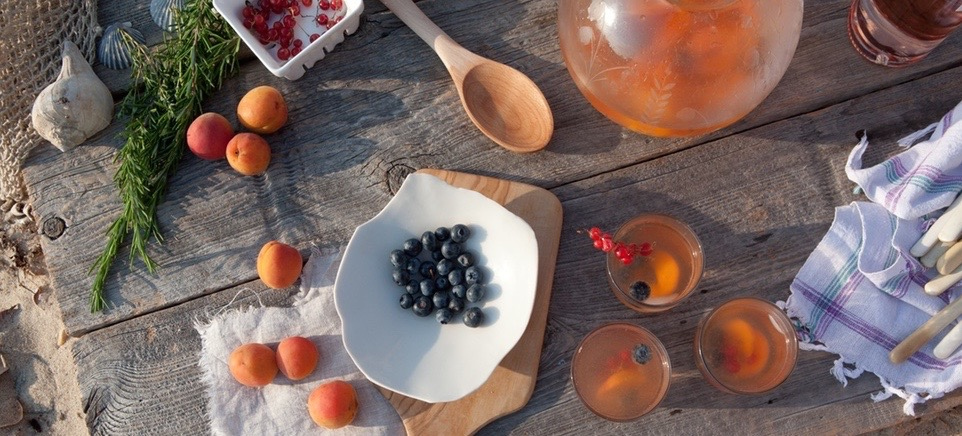 Rosé Recipe: An Ibiza-Inspired Rosé Sangria With Honey Lavender Syrup