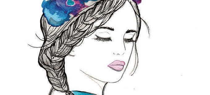 Pinterest's Next Big Hit: These Boho French-Girl Braid Illustrations