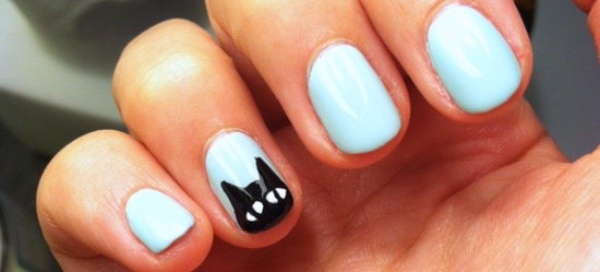 Try This Adorable Black Cat Halloween Manicure Right Meow