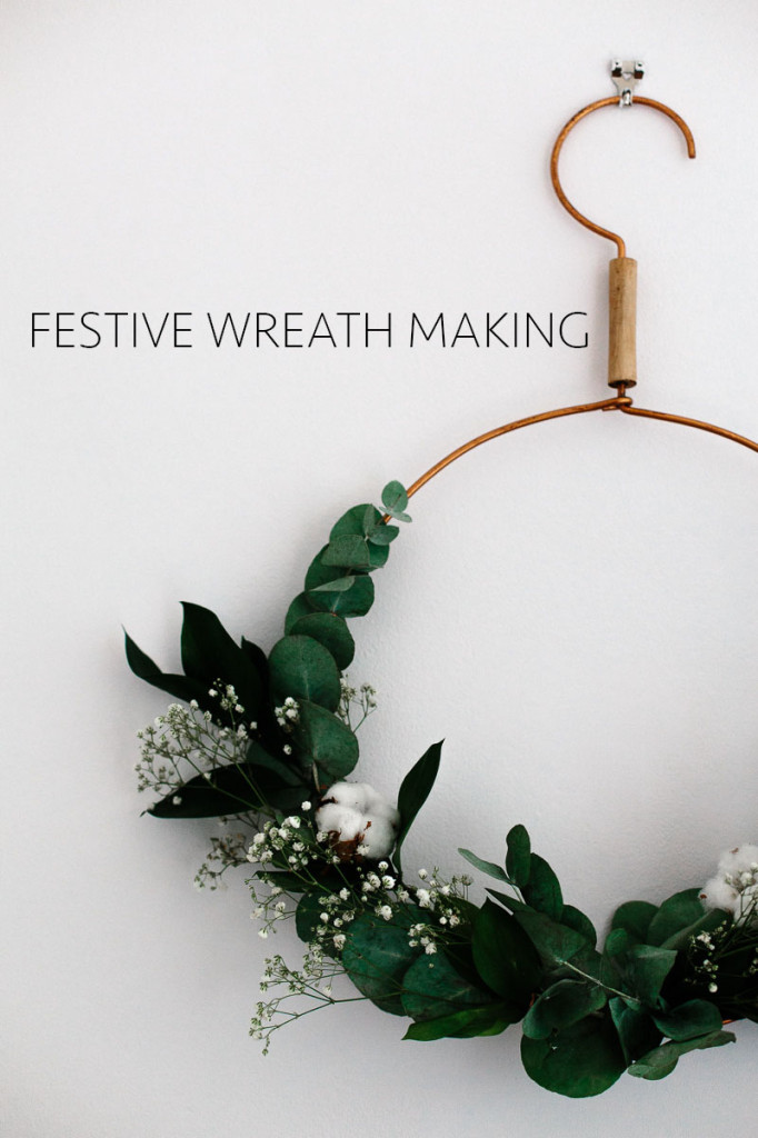Festive+wreath+making