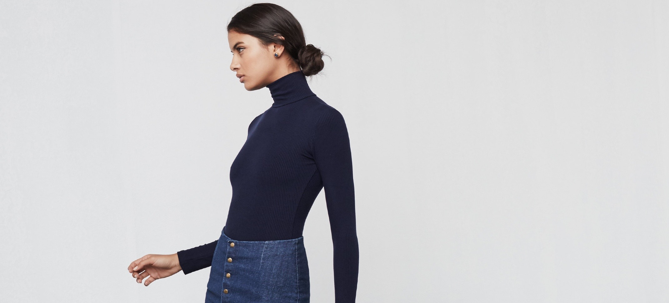 The Secret To Looking Slim In A Turtleneck